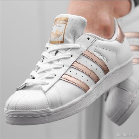 Adidas Originals Rose Gold Superstar Shoes